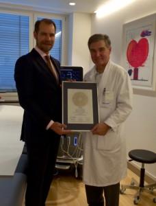 Siegelübergabe mit Prof. Dr. Paul Erne und Asmus P. Grebbin