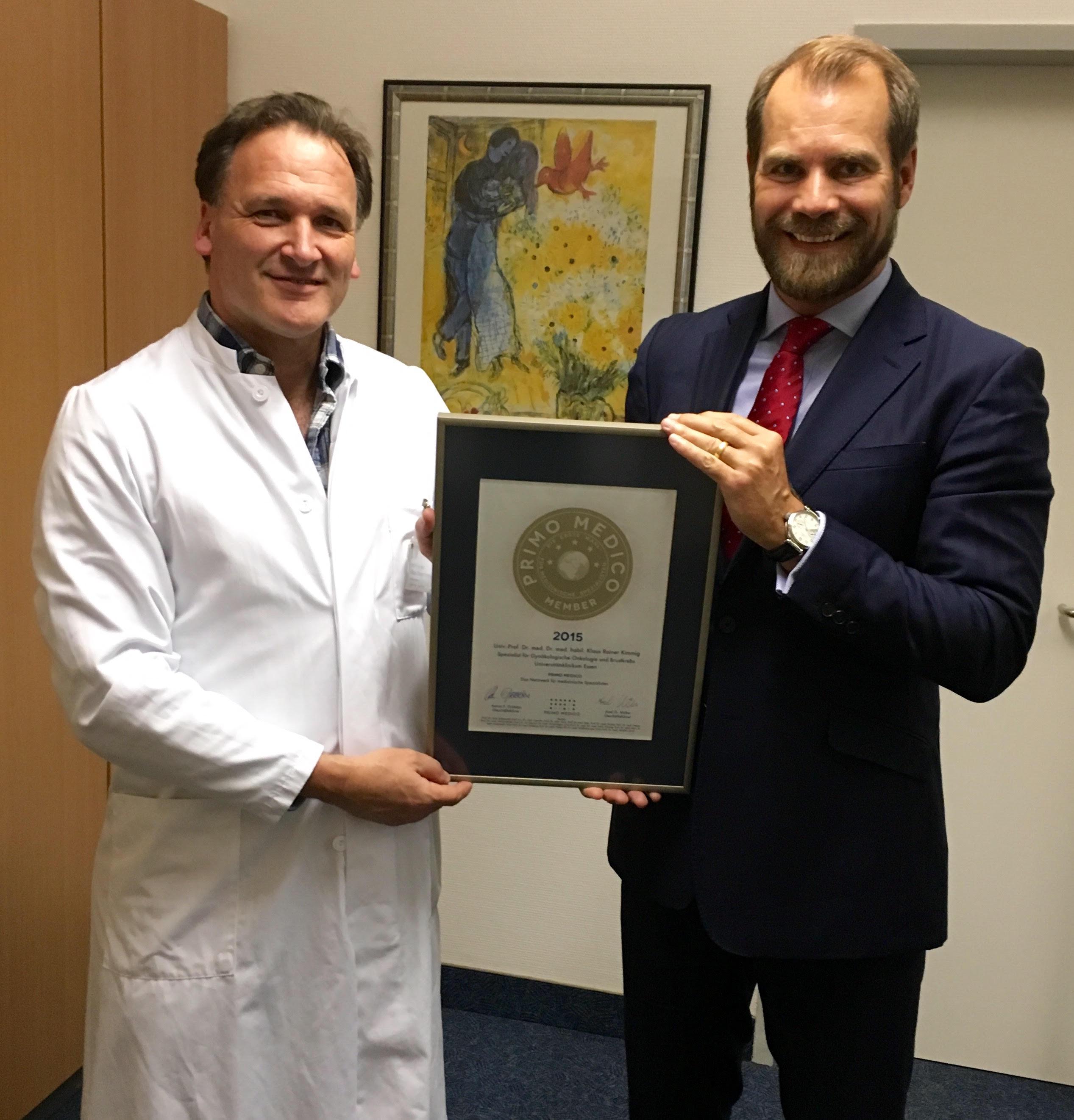Univ.-Prof. Dr. Dr. med. Kimmig Siegelübergabe