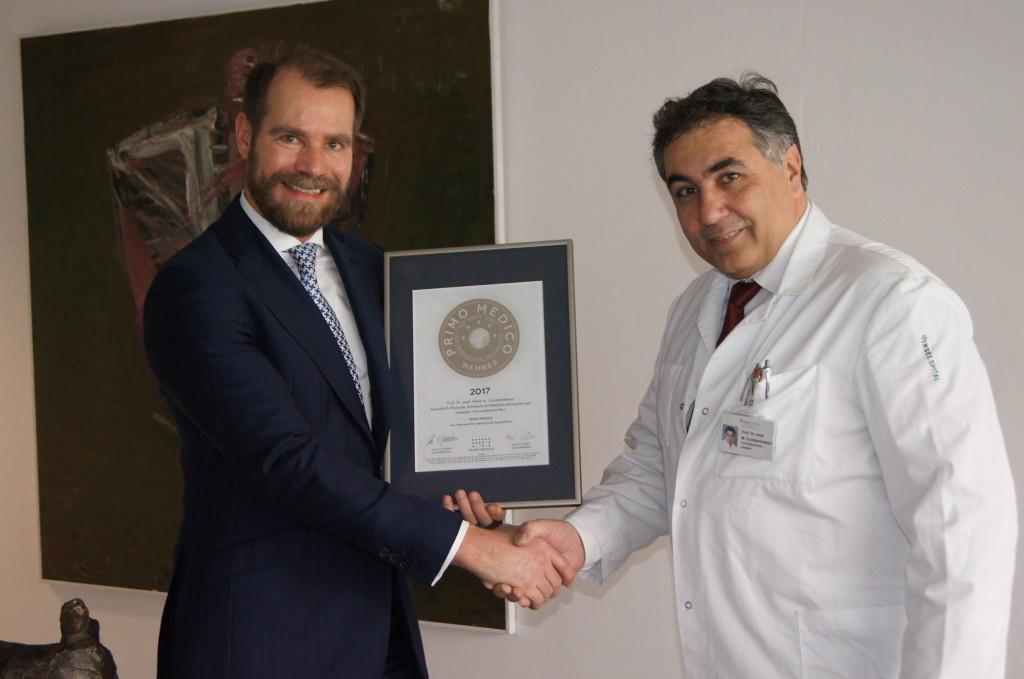 Siegelübergabe 2017 an PRIMO MEDICO-Mitglied Prof. Dr. Constantinescu