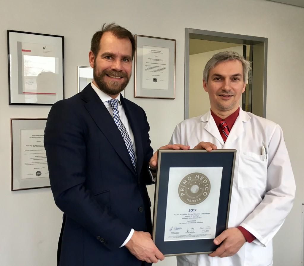 Siegelübergabe 2017 an PRIMO MEDICO-Mitglied Prof. Heverhagen