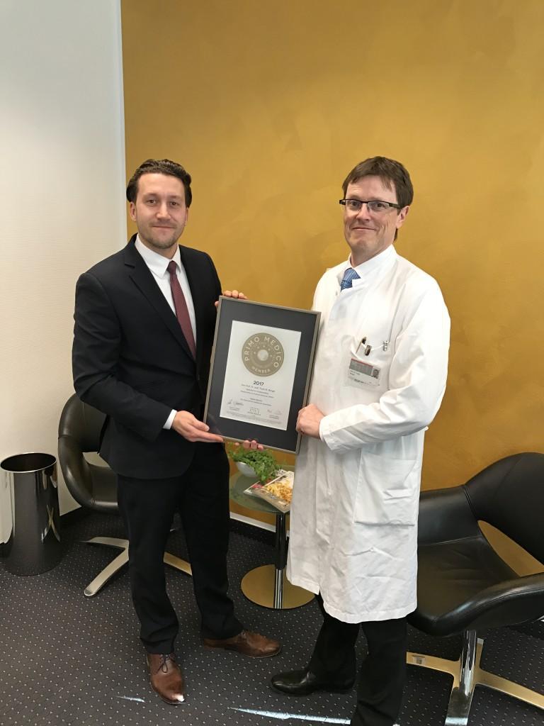 Siegelübergabe 2017 an PRIMO MEDICO-Mitglied Prof. Bengel