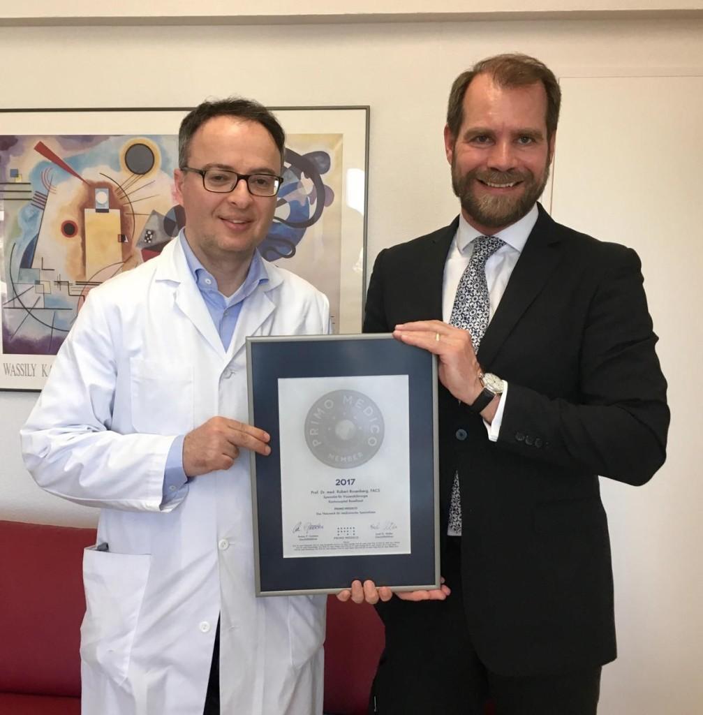 Siegelübergabe 2017 an PRIMO MEDICO-Mitglied Prof. Rosenberg