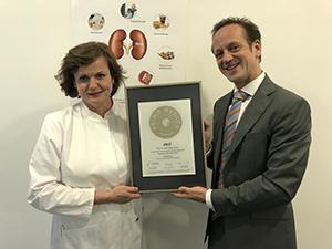 Siegelübergabe 2017 an PRIMO MEDICO- Mitglied Prof. Frank
