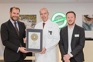 Siegelübergabe 2017 an PRIMO MEDICO- Mitglied Dr. Schabram