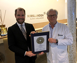 Siegelübergabe 2018 an PRIMO MEDICO- Mitglied  Prof. h.c. PD Dr. med. Matthias Steinwachs