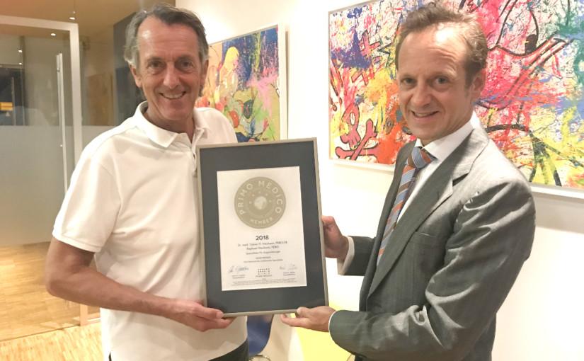 Dr. med. Tobias H. Neuhann – Mitgliedschaft im PRIMO MEDICO Netzwerk bestätigt