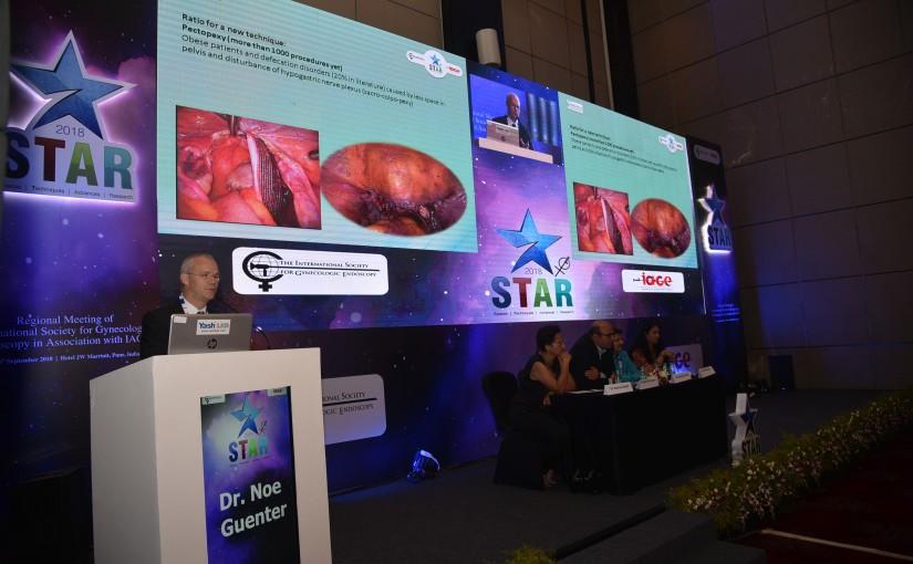 Unser Mitglied Doktor Noé auf einem indischen Gynäkologen-Kongress