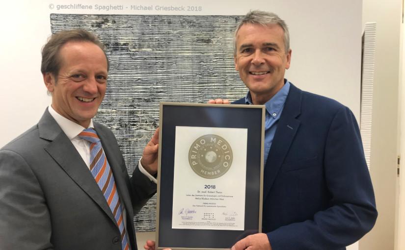 Dr. med. Robert Theiss –  Mitgliedschaft im PRIMO MEDICO  Netzwerk bestätigt