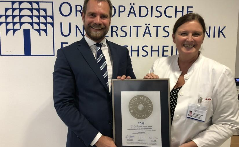 Univ.-Prof. Dr. med. Andrea Meurer –  Mitgliedschaft im PRIMO MEDICO  Netzwerk bestätigt