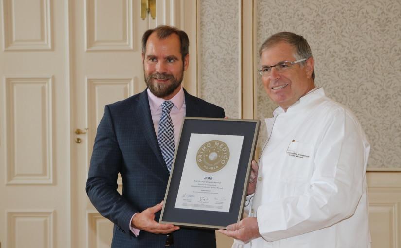 Prof. Dr. med. Christian Hendrich –  Mitgliedschaft im PRIMO MEDICO  Netzwerk bestätigt