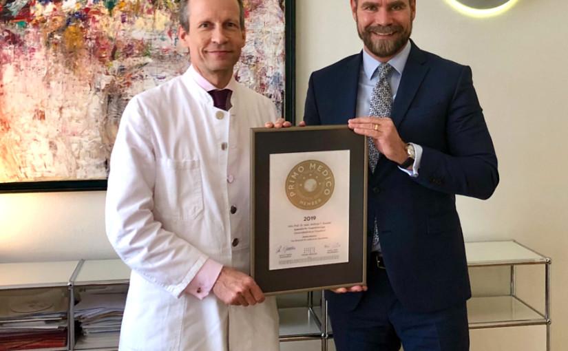 Univ.-Prof. Dr. med. Wolfram Knoefel –  Mitgliedschaft im PRIMO MEDICO  Netzwerk bestätigt