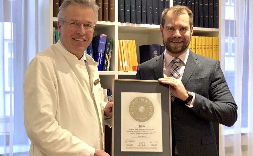 Prof. Dr. med. Michael Ockenfels –  Mitgliedschaft im PRIMO MEDICO  Netzwerk bestätigt
