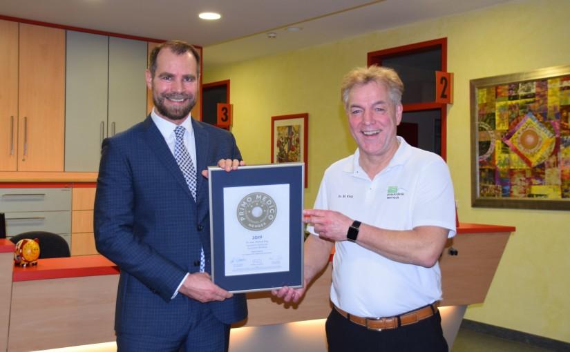 Dr. med. Michael Klug –  Mitgliedschaft im PRIMO MEDICO  Netzwerk bestätigt