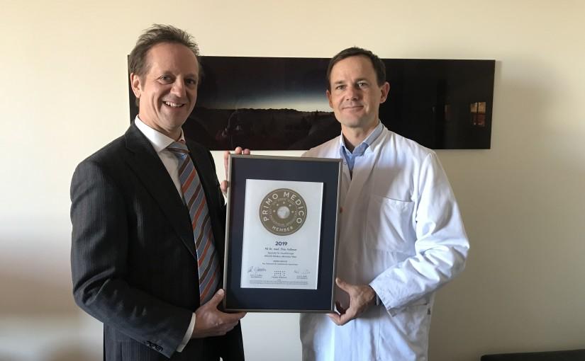 PD Dr. med. Elias Volkmer –  Mitgliedschaft im PRIMO MEDICO  Netzwerk erneut bestätigt
