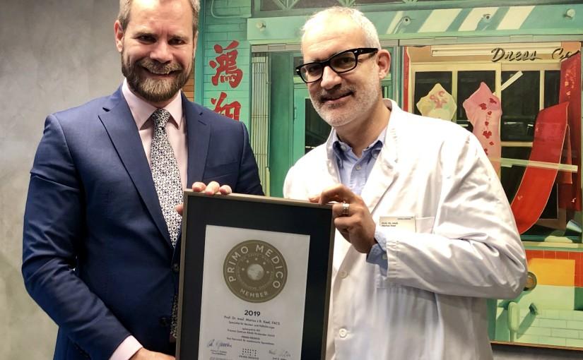 Prof. Dr. med. Marius J.B. Keel, FACS –  Mitgliedschaft im PRIMO MEDICO  Netzwerk erneut bestätigt
