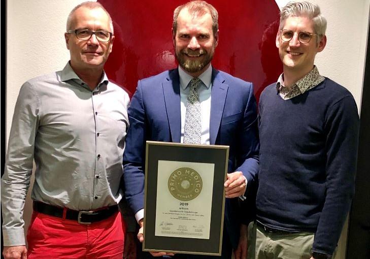 Articon Spezialpraxis für Gelenkchirurgie –  Mitgliedschaft im PRIMO MEDICO  Netzwerk bestätigt