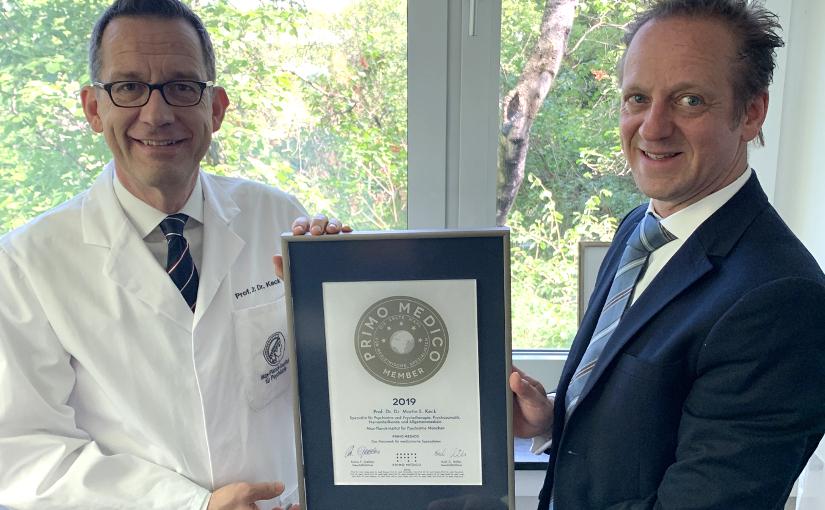 Prof. Dr. Dr. Martin E. Keck –  Mitgliedschaft im PRIMO MEDICO Netzwerk erneut bestätigt