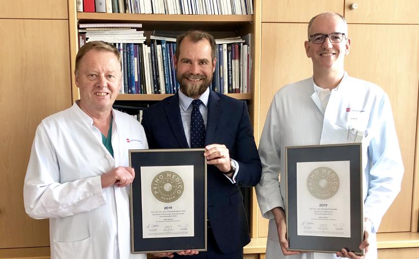 Prof. Dr. med. Bernhard Dorweiler und  Univ.-Prof. Dr. med. Christian-Friedrich Vahl – Mitgliedschaft im PRIMO MEDICO Netzwerk erneut bestätigt
