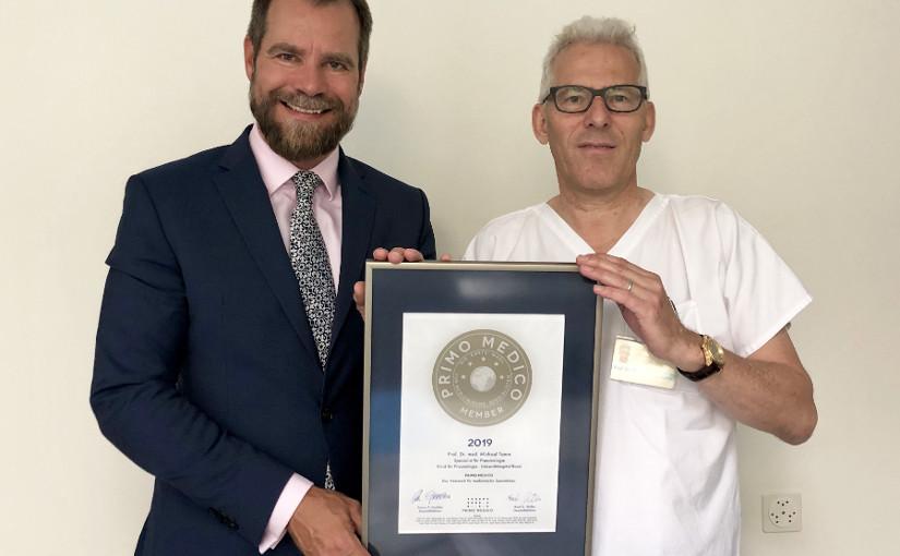 Prof. Dr. med. Michael Tamm –  Mitgliedschaft im PRIMO MEDICO  Netzwerk erneut bestätigt