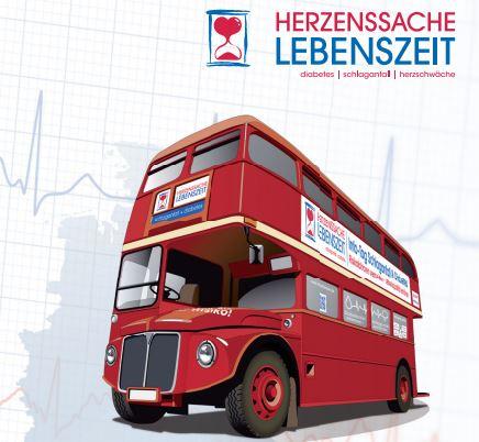 """Schlaganfall, Herzschwäche, Diabetes-Prävention:  Chefärzte der Asklepios Kliniken beraten im """"Info-Bus"""""""