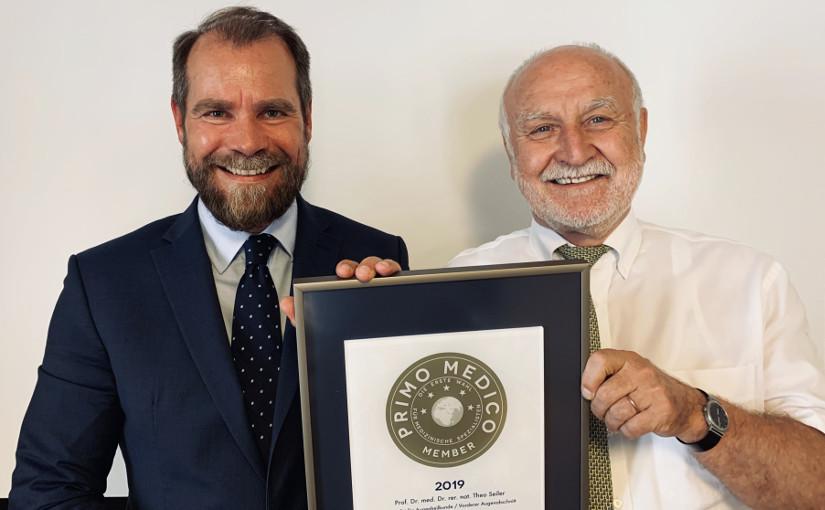 Professor Theo Seiler –  Mitgliedschaft im PRIMO MEDICO  Netzwerk erneut bestätigt