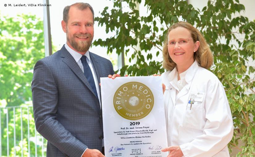 Prof. Dr. med. Serena Preyer –  Mitgliedschaft im PRIMO MEDICO  Netzwerk bestätigt