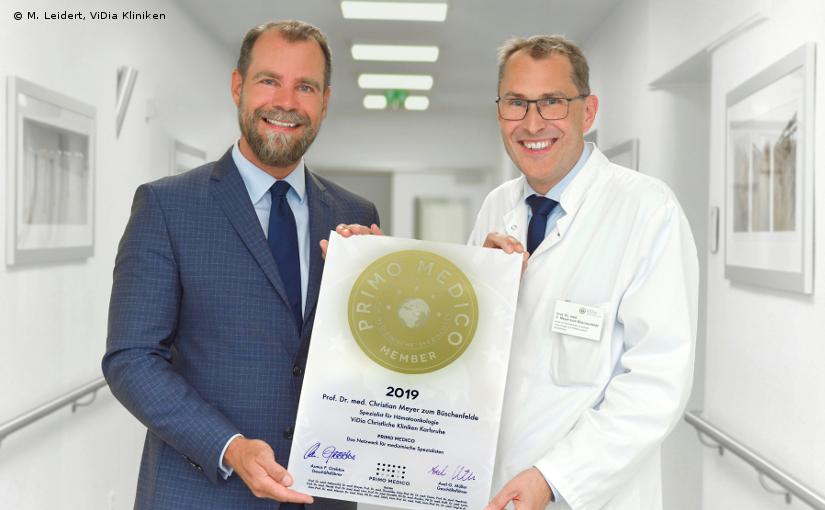 Prof. Dr. med. Christian Meyer zum Büschenfelde – Mitgliedschaft im PRIMO MEDICO Netzwerk bestätigt