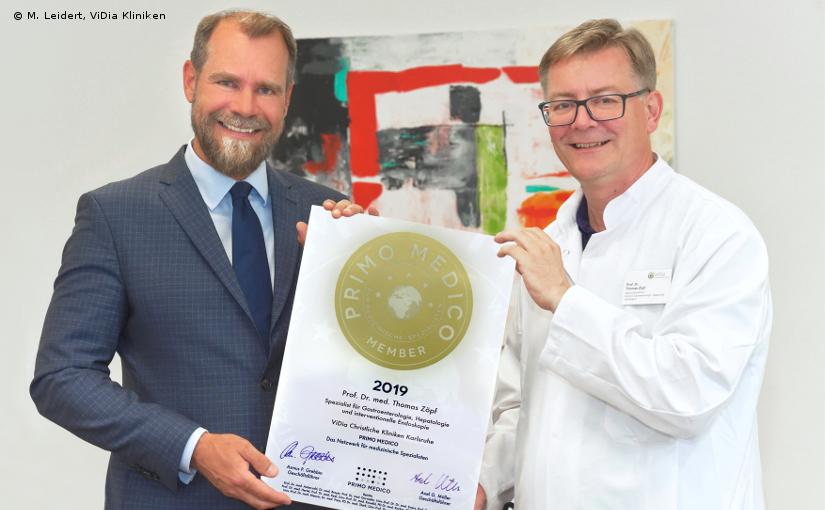 Prof. Dr. med. Thomas Zöpf –  Mitgliedschaft im PRIMO MEDICO Netzwerk bestätigt