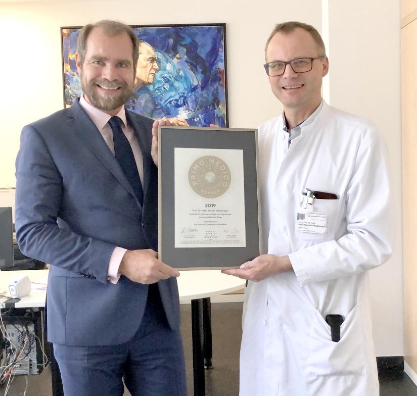 Siegelübergabe Prof. Dr. med. Heiner Wedemeyer