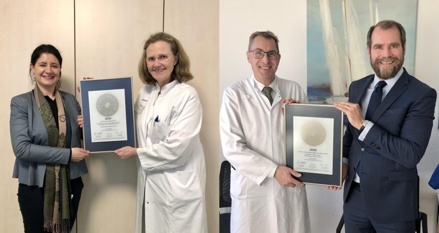 Siegelübergaben an Prof. Dr. med. Serena Preyer und Prof. Dr. med. Christian Meyer zum Büschenfelde