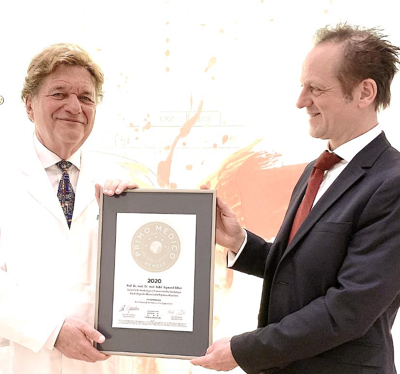 Siegelübergabe Prof. Dr. med. Sigmund Silber