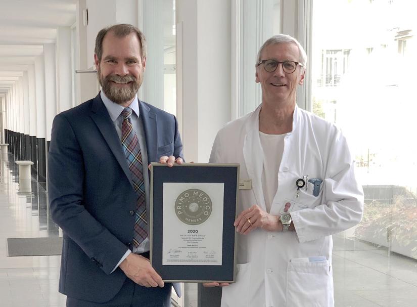 Siegelübergabe Prof. Dr. med. Rolf B. Schlumpf